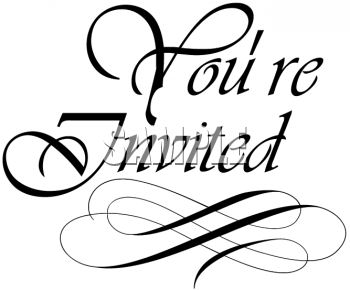 You Are Cordially Invited Wedding with good invitation design