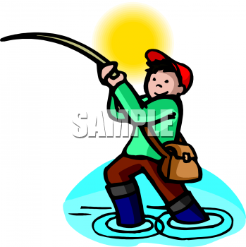 fishing rod clipart. People Clipart