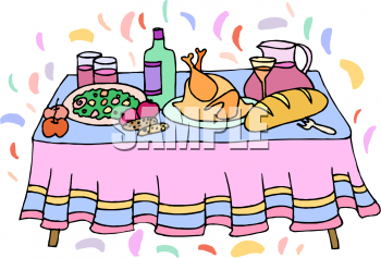 Royalty Free Dinner Clip art, Food Clipart