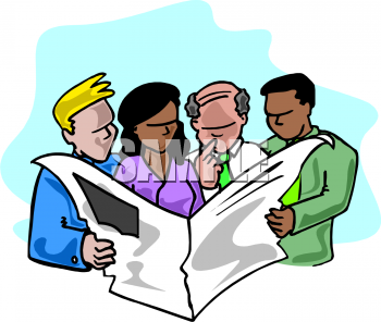 Royalty Free Newspaper Clip Art Business Clipart