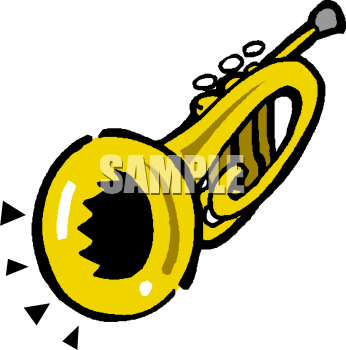 Royalty Free Trumpet Clip art, Entertainment Clipart