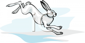 Running rabbit clipart