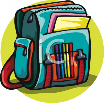 Desk bags for school - Royalty Free Backpack Clip Art School Clipart