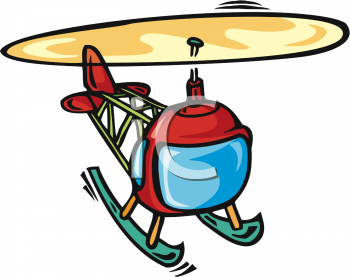 Royalty Free Helicopter Clip art, Transportation Clipart