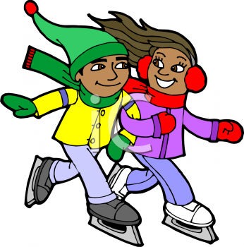 clip art ice skating