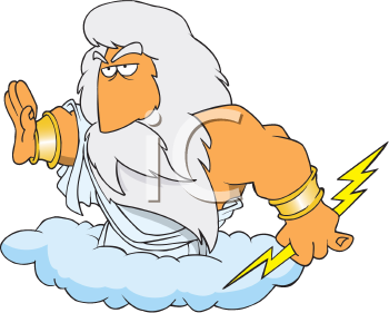 The gallery for --> Zeus Throwing Lightning Bolt From Cloud
