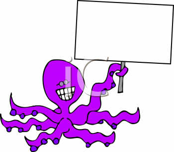 Royalty free octopus clipart