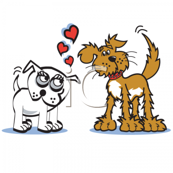 Cartoon Girl Dogs. Cartoon Clipart