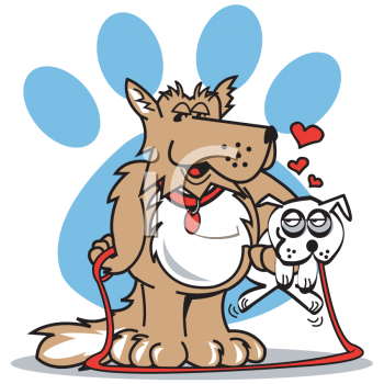 clipart dog walking. Dog Clipart