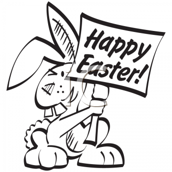 happy easter bunny cartoon. Cartoon Clipart