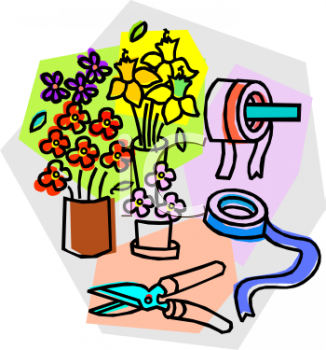 Royalty free florist clip art business clipart