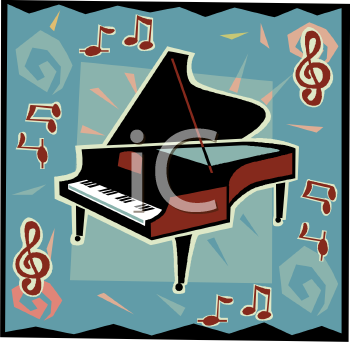 Royalty Free Piano Clip Art Entertainment Clipart