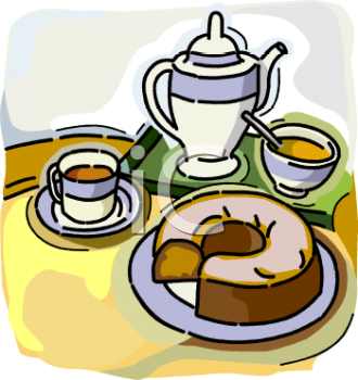 Clip Art Cake And Coffee : Royalty Free Cake Clip art, Food Clipart