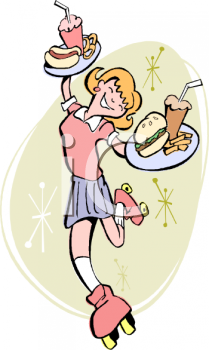 Cartoon Waiter And Waitress Icon
