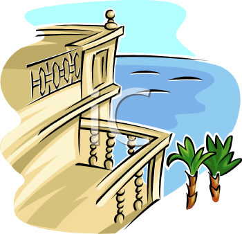 Royalty free balcony clip art architecture clipart for Balcony cartoon