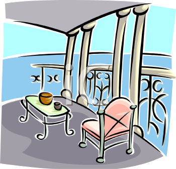 royalty free terrace clip art architecture clipart On terrace clipart