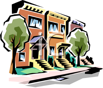 Royalty Free Community Building Clip art, Buildings Clipart