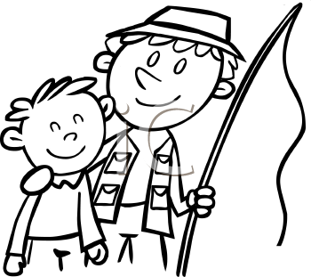 Father and son fishing clip art for Free fishing day texas