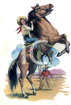 Western Horse Riding Clipart Royalty Free Cowgirl C...