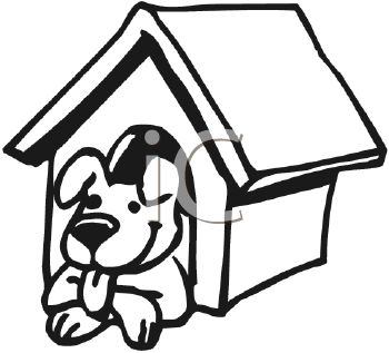 inside house clipart black and white. dog clipart inside house black and white