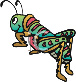 Royalty Free Cricket Clip art, Insect Clipart