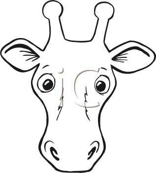 Giraffe 274554 on cartoon deer head