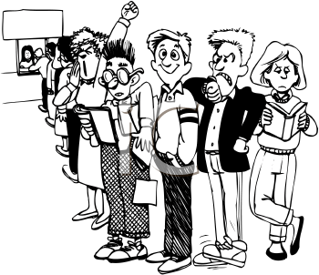 Waiting in Line Clip Art
