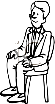 Royalty Free Cartoon ClipartPerson Sitting On Chair Clipart