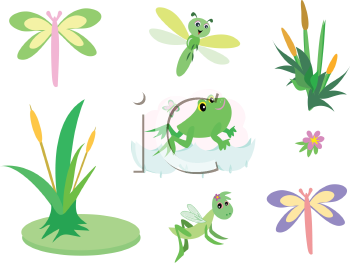 Royalty free damselfly clipart