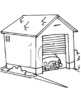 car garage coloring pages - photo#10