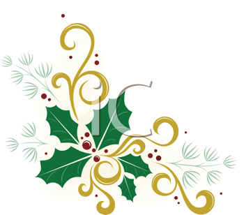 Royalty Free Holly Clip Art Christmas Clipart