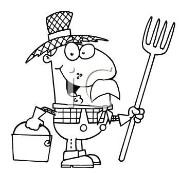 Royalty free rake clip art farm equipment clipart for Rake coloring page