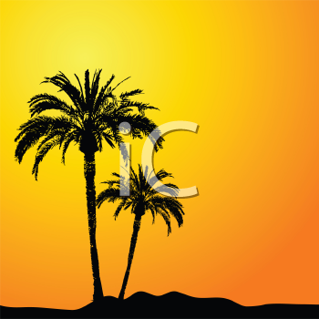 palm tree clipart. Grass and Tree Clipart