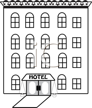 Royalty Free Hotel Clip art, Buildings Clipart