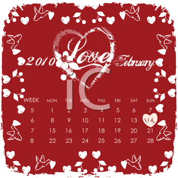 february calendar clip art. Valentines Day Clipart