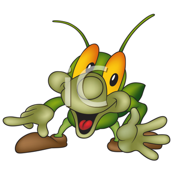 Clip Art Grasshopper. Insect Clipart