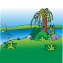 willow clipart royalty free grass and tree clip art