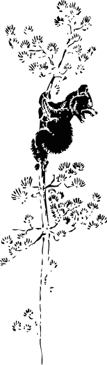 Free Bear in Tree Clipart