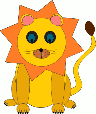 Free Lion Decoration Clipart
