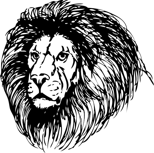 Free Lion Coloring Page Clipart 1 page of Public Domain Clip Art