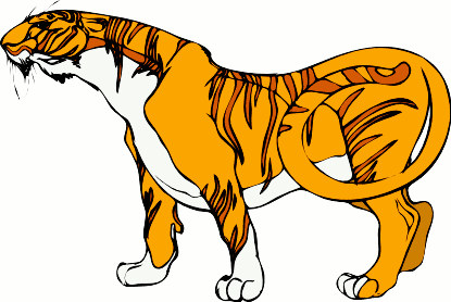 Free Indochinese Tiger Clipart