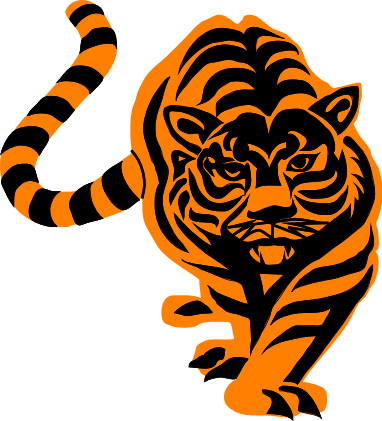 Free Stalking Tiger Clipart