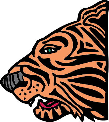 Free Snarling Tiger Clipart