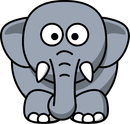 Free Cartoon Elephant Clipart