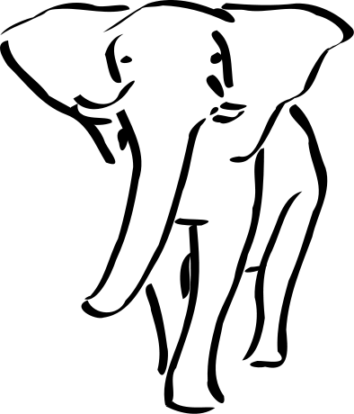 Free Elephant Coloring Pages Clipart