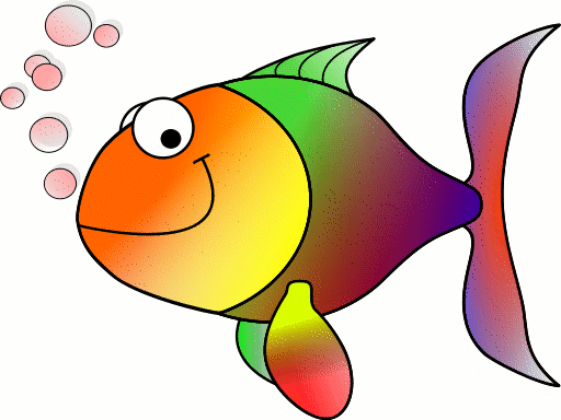 Free Rainbow Fish Clipart
