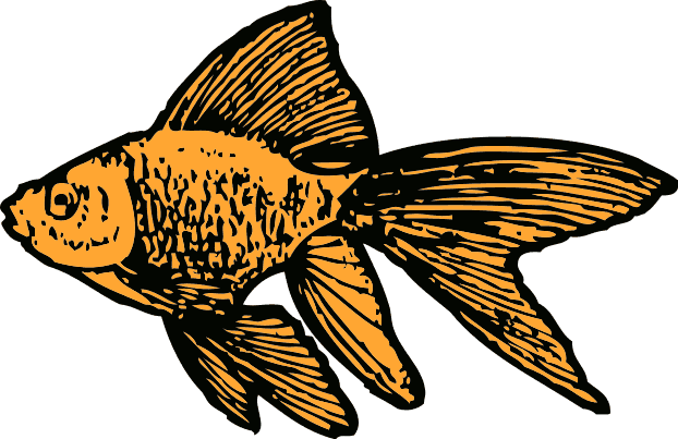 Free Black and White Fish Clipart