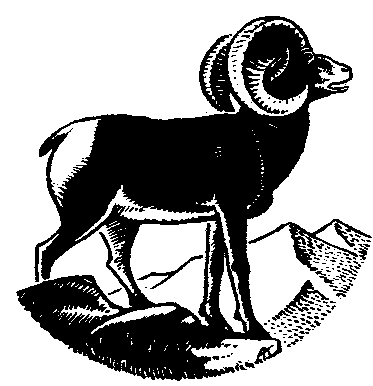 Free Black and White Goat Clipart