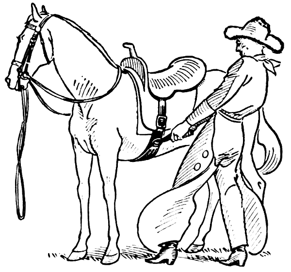 Free Horse and Cowboy Clipart