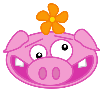 Free Happy Pig Clipart